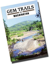 Photo shows Gem Trails of Washington, a great new travel/field guide for Washington rockhounds - Now Available!  To ensure availibility of this item, order as early as possible. Click here to learn more about the largest selection of Regional Books and Maps for Washington from FACETS book shelf!
