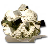 Text Book Classic -  Pyrites of Navajún...from Lorongo Spain are truly sculptures by Nature. Although pyrites are relatively abundant in nature, where they can be found either in a massive or crystallized form, it is not common to find crystals full finished with the perfection and shine as these cubical forms found in matrix of gray marl. These pieces are of great value (approximately 120 million years old) that has been commercialized for collecting since the sixties. Attracted by the singular perfection of these crystals they appear in prestigious collections worldwide, including the Smithsonian. The size variation and shape of each crystal group constitute a work of art, as with each specimen of crystals they are totally different from each other. Available from $25.00 to $300.00 each.  Due to the delicate nature of the Pyrites (this mineral is hard but fragile) each piece is very carefully packaged with its own descriptive label  In Stock for immediate shipping. Order NOW!