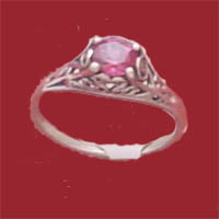 Sterling silver filigree rings - set with exquisite genuine faceted rhodolite which is a beautiful variety of garnet with flashes of burgundy or rasberry to red in color, also one of the January birthstones.