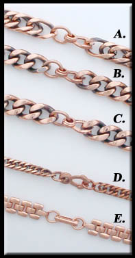 Photo of pure solid copper link bracelets - Click here to order NOW!