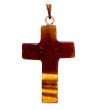 Gemstone cross pendant.