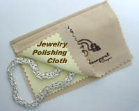 FACETS Jewelry Care Cloth with tarnish inhibitors to clean and restore the mirror like finish to heavily tarnished jewelry, small silver service, silver flatware, musical instruments, coins and more.