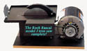 The Rock Rascal Model JM 6 inch trim saw.  Ships complete with with a 6 inch Pro-Slicer diamond blade and 1/3 RPM motor, mounted and ready to use, just add cutting oil, plug it in and turn on the switch! Buy it NOW and SAVE!
