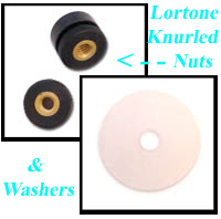 Spare Knurled Nuts & Washers For Lortone Tumbler Barrels. In Stock - Order NOW!
