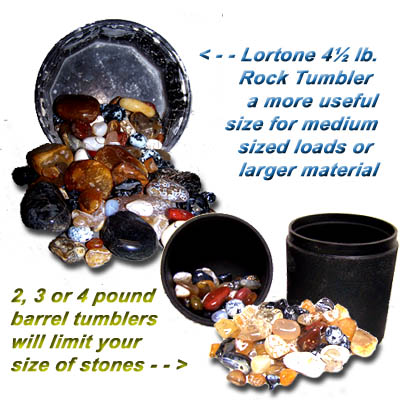 Don't be sucked into an atractive low price that limits you to polishing rocks the size of a quarter or smaller.